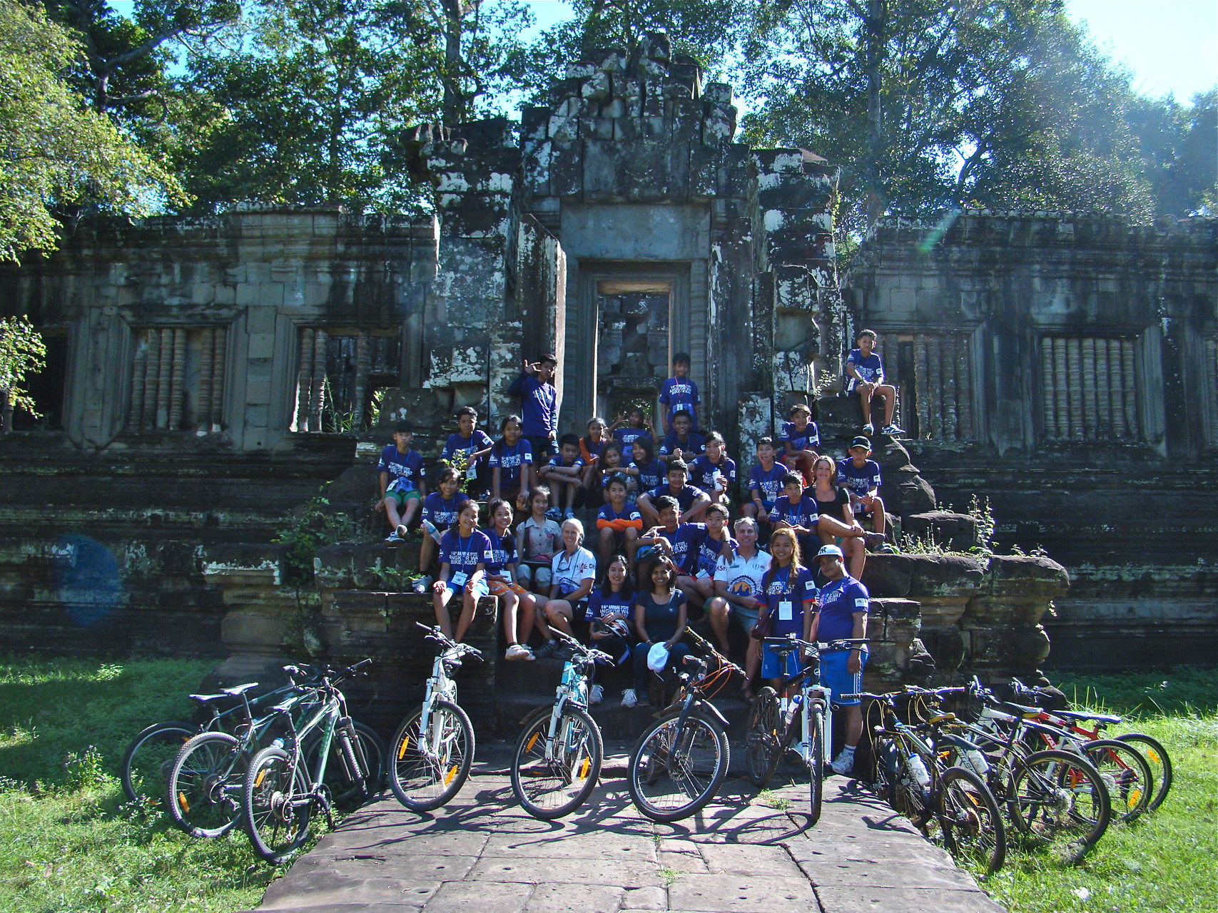 My biking team in Siem Reap.
